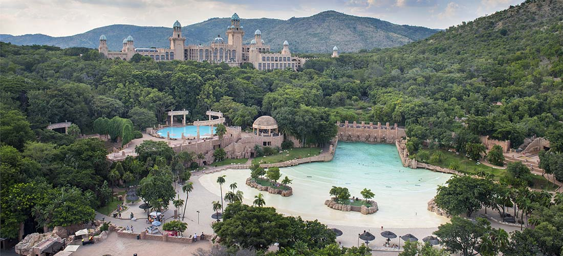 Valley of Waves and The Palace, Sun City, Sydafrika